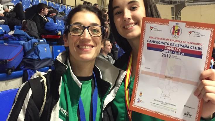 Ismene Pico derioztarrak brontzezko domina lortu du Espainiako Taekwondo Txapelketan