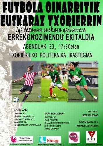 Futbol taldeek euskara arloan egindako lana bihar omenduko dute Derion