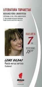 Literatura topaketak. Leire Bilbao