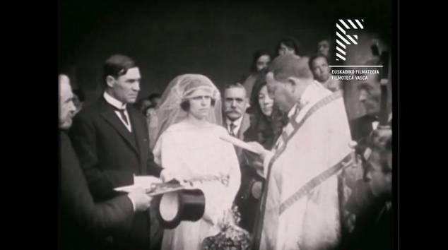 Lezaman ezkontza bati buruzko pelikula grabatu zen 1921ean