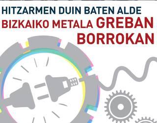 Grebara deitu dute biharko Bizkaiko metalgintza sektorean