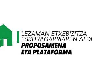 Etxebizitzaren aldeko plataforma aurkeztuko da gaur Lezaman