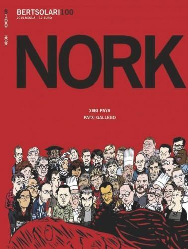 <i>Nork</i> komikia: Xabi Paya eta Patxi Gallego (<i>Bertsolari</i> aldizkaria)