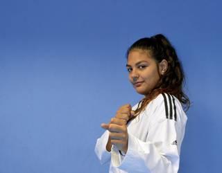"""Violeta Perez Manzano, taekwondoka: """"Taekwondo barik ez nintzateke izango naizen pertsona"""""""